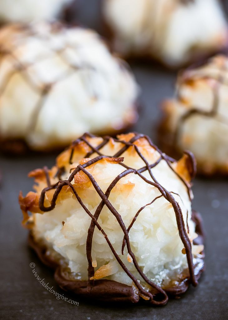 almond joy macaroons - bake.love.give.