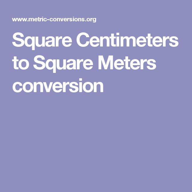 Square Centimeters to Square Meters conversion
