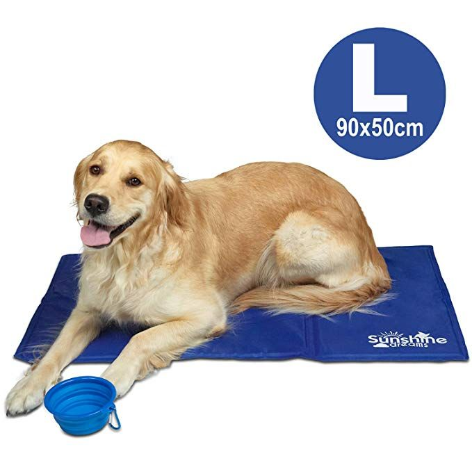 Dog Cooling Mat In 2020 Dog Cooling Mat Summer Dog Dog Water Bowls
