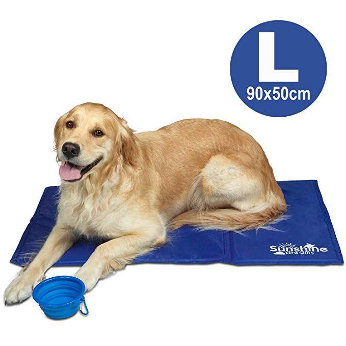 Dog Cooling Mat In 2020 Dog Cooling Mat Summer Dog Dog Water Bowls