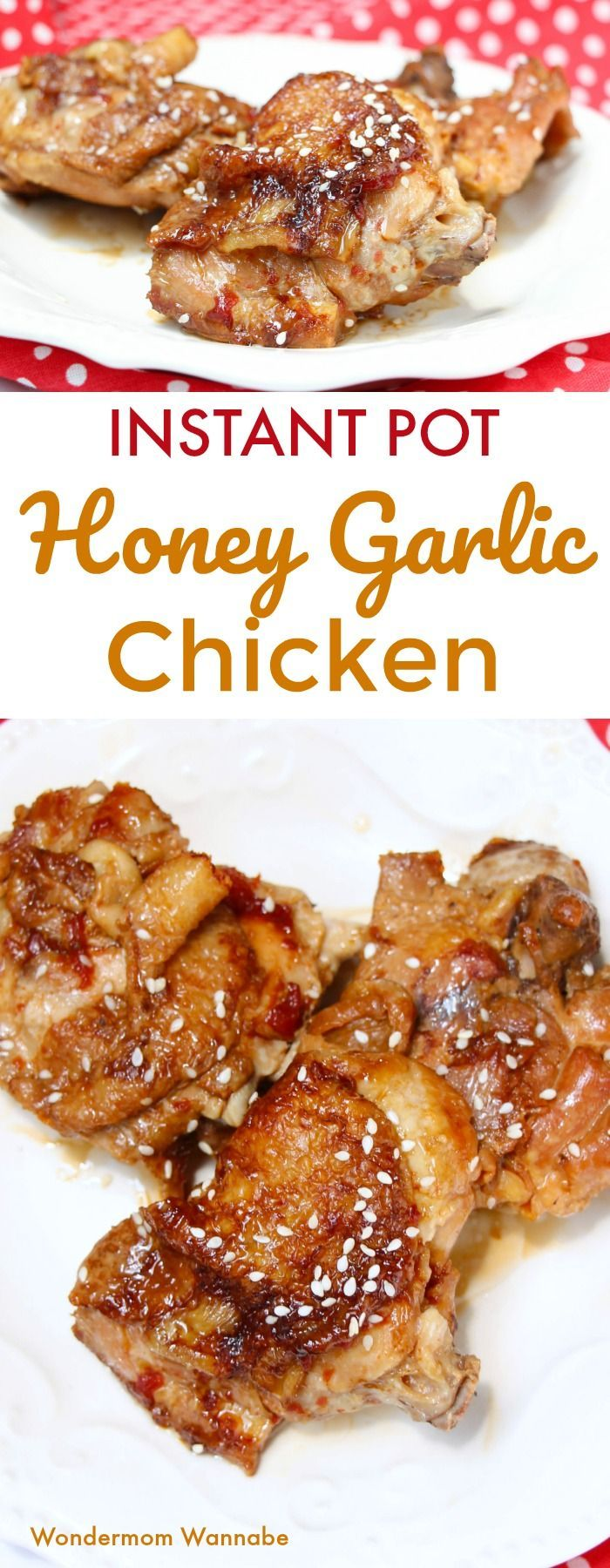 My kids love this Instant Pot Honey Garlic Chicken! So much cheaper and healthier than ordering Chinese takeout.
