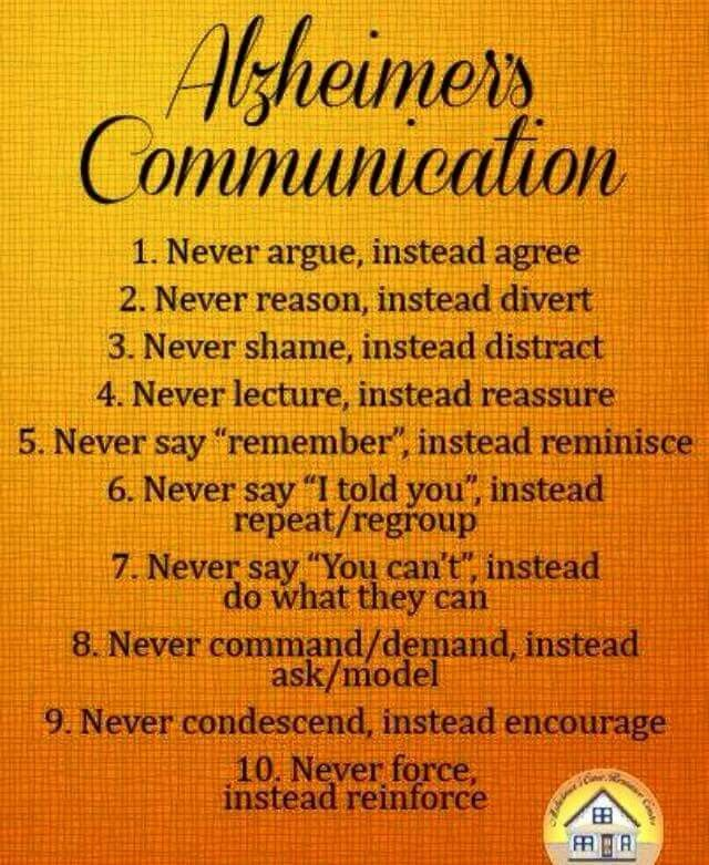 Alzeheimer's communication