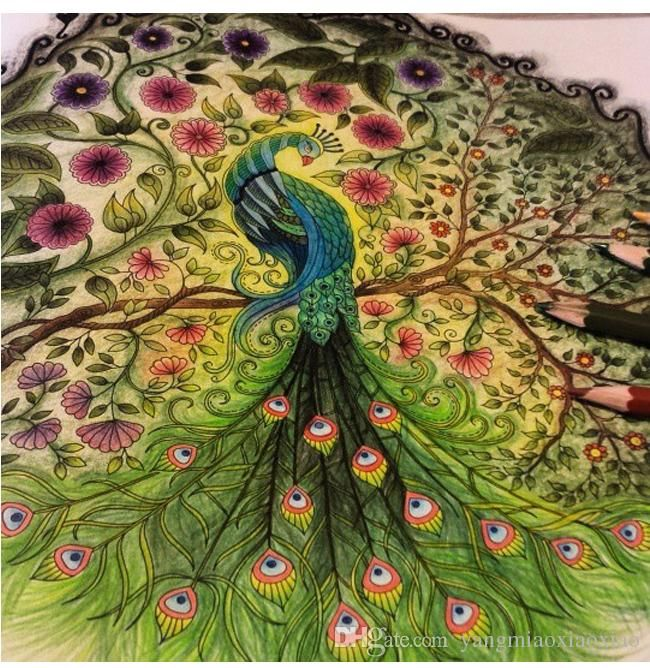 Chinese Painting Secret Gardens Coloring Books Adult Colouring Graffiti Paint Colors Garden Art