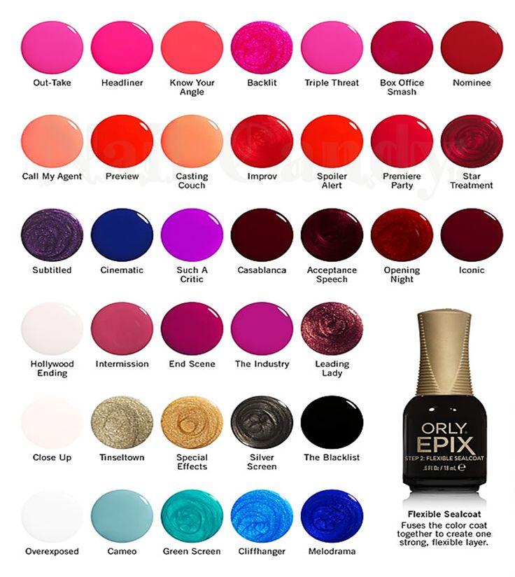 Nail Polish Chart: Orly Epix Flexible Color