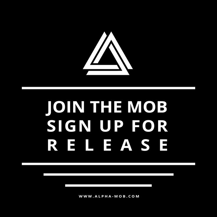 Join the Mob and sign up to know our new stores release date! #AlphaMob #JointheMob