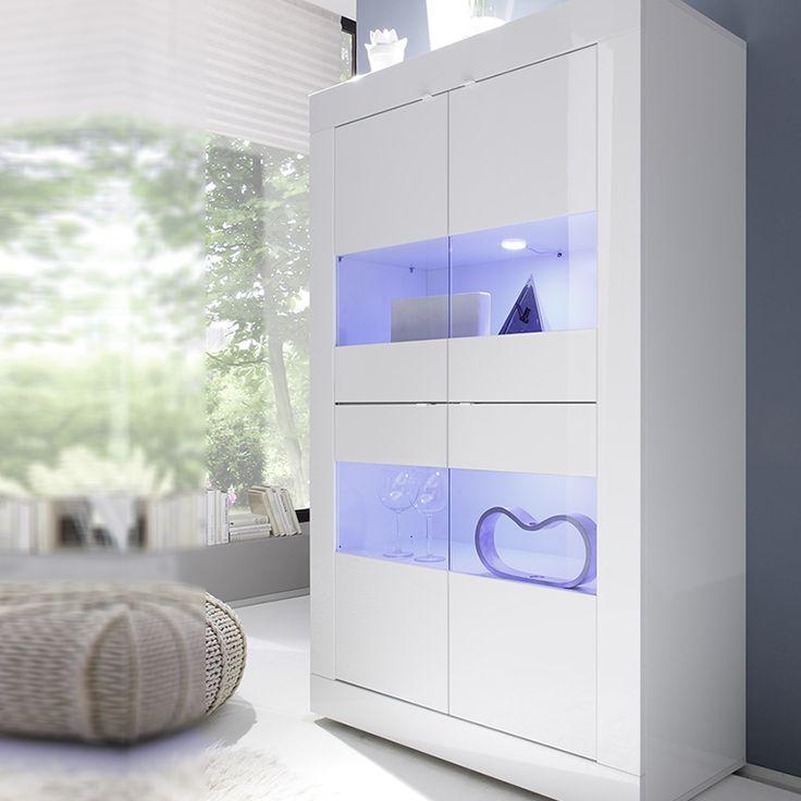 Vaisselier blanc laqué design KIM