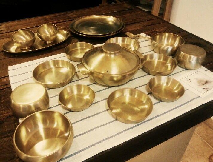 HAND MADE KOREAN TRADITIONAL COPPER dinnerware sets ...