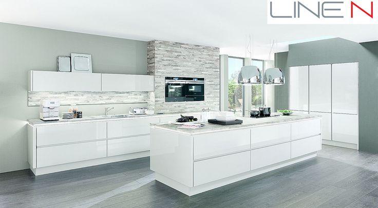 Minimalistický luxusní design -kuchyně LUX-Sconto Nábytek - varianta bezúchtkového provedení LINE N