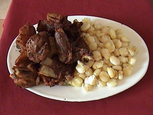 Chicharron - are also considered to be found everywhere. These are pieces of pork cooked in iron pots.