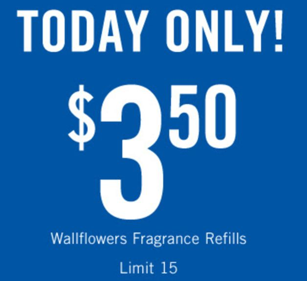 Bath & Body Works Canada Coupon: Wallflowers Fragrance Refills $3.50 each http://www.lavahotdeals.com/ca/cheap/bath-body-works-canada-coupon-wallflowers-fragrance-refills/176725?utm_source=pinterest&utm_medium=rss&utm_campaign=at_lavahotdeals