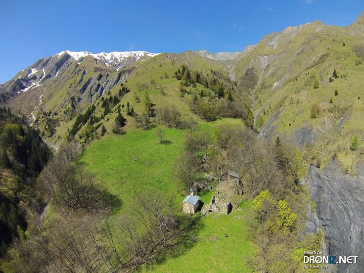Aerial drone Photo from France by Kareldef : Unnamed Road, Vanoise National Park, 73440 Saint-Martin-de-Belleville, France