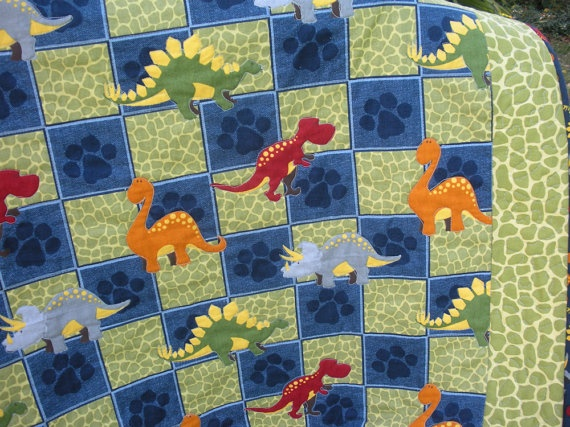 Dynamite Dinosaurs Quilt By Onebeelane On Etsy 85 00