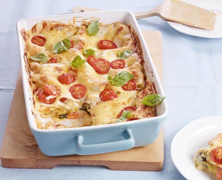 Alles drin, was eine gute Lasagne braucht: Gemüse, Béchamel und satt Käse.
