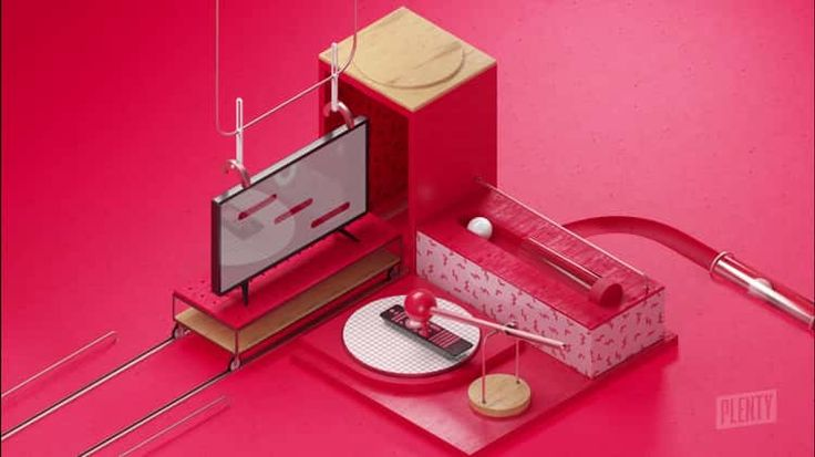 Coppel Buen Fin #motion #factory #isometric #3d #color #objects