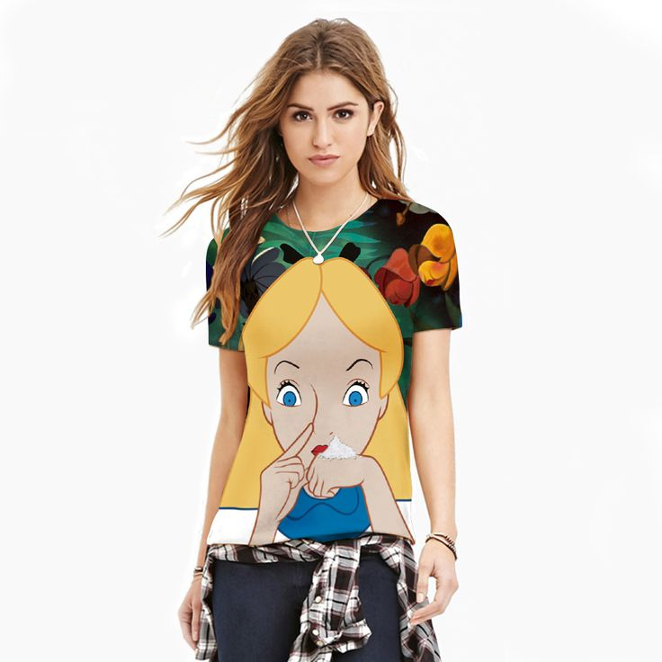 2017 3D Digital Cute Cat Prety Girl Printed Short Sleeves T-shirt Slim Unique Creative Shirts Summer Female Tees Tops CMT003G #Affiliate