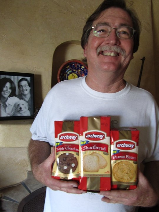 Paul T. Goodman won an Archway cookies Facebook contest and shared a picture with us the day he received our package! (via Archway Facebook Page)