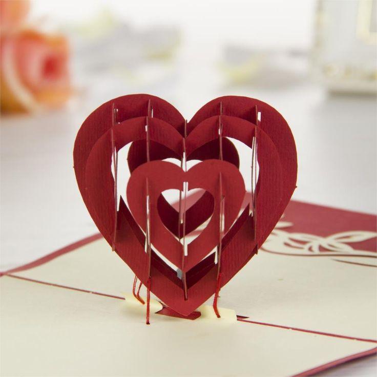 Presentes do dia dos namorados amor e de casamento Handmade Kirigami cartões de aniversário 3D Pop up cartões de tipo frete grátis em Cartões de agradecimento de Escritório & material escolar no AliExpress.com   Alibaba Group
