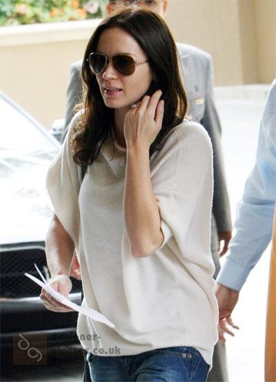 f94f5b2e140 Emily Blunt wearing Tom Ford Charles sunglasses
