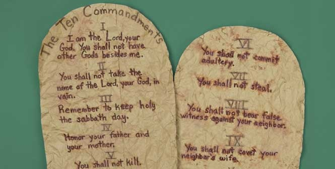 It's just an image of Amazing Printable Ten Commandments Tablets