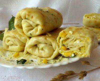 Di gotuje: Naleśniki z farszem jajecznym i kukurydzą