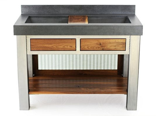 Concrete Top Vanity Desk : Images about concrete vanity tops on pinterest