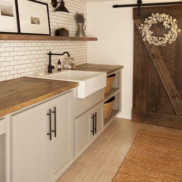 We Re Obsessing Over This Farmhouse Style Laundry Room