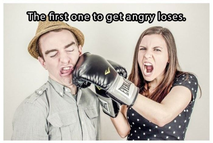 The first one to get angry loses | www.piclectica.com #piclectica