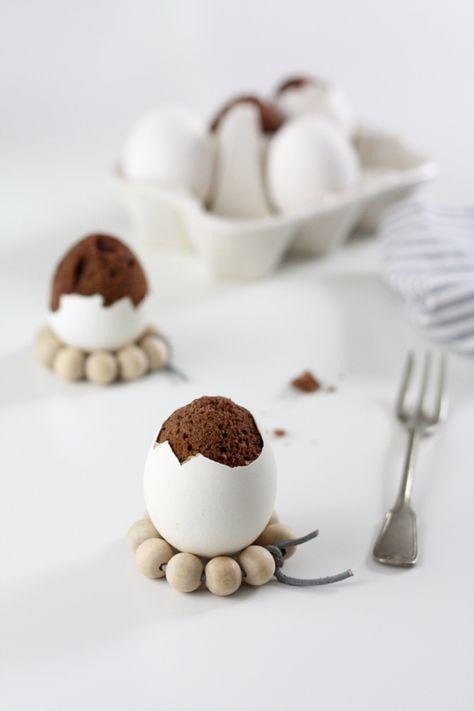 Einfache Rezepte für Ostern: Schoko-Kuchen im Ei