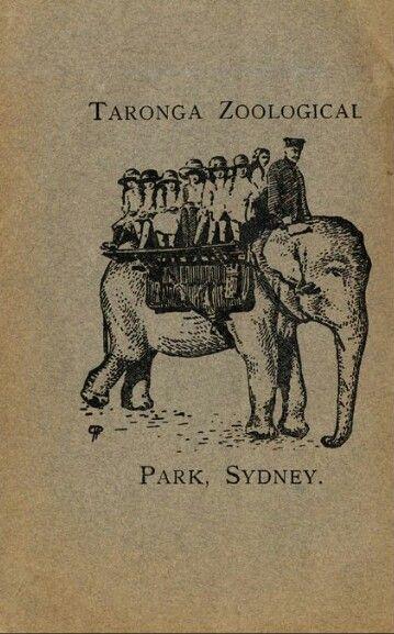 Taronga Park Zoo, Sydney  1923 (Smithsonian archives)