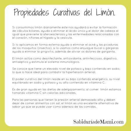 Sabiduría de Mami | Propiedades Curativas del Limón | http://www.sabiduriademami.com