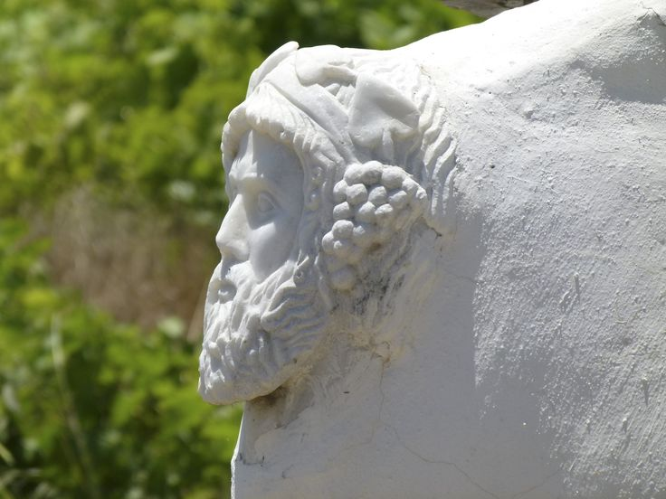 Dionysus (the ancient Greek God of wine and intoxication) surveilling over the vineyard at Mykonos Vioma  http://www.mykonosvioma.gr/the-vineyard.html