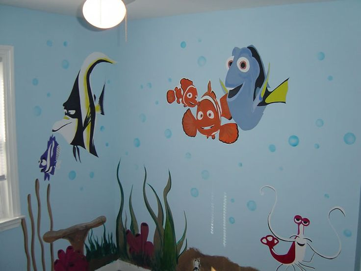 Baby room paint designs layout designs ideas and photos for Baby wall mural ideas