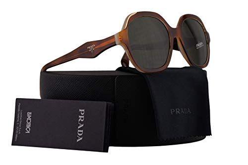 cd37794cca6b9 Prada PR06US Sunglasses Light Havana Striped White w Green 52mm Lens TH71I0  SPR06U PR 06US