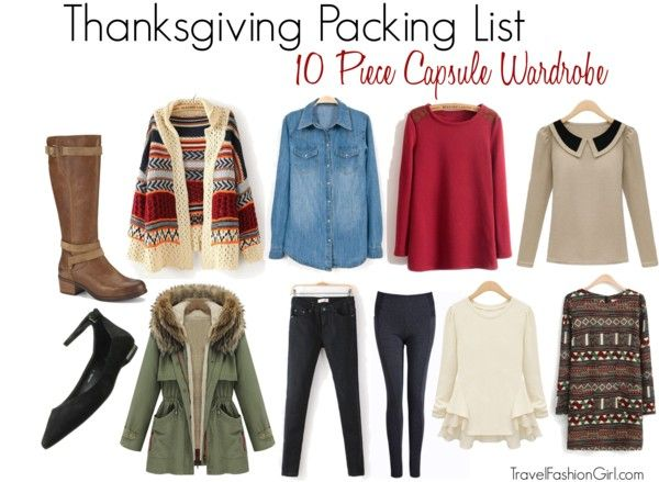 Thanksgiving Packing List: 10 Piece Capsule Wardrobe for 3-5 Day Trip