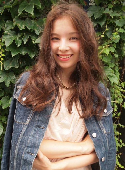 外国人風★フレンチガール 【LOAVE AOYAMA】 http://beautynavi.woman.excite.co.jp/salon/26916?pint ≪ #longhair #longstyle #longhairstyle #hairstyle ・ロング・ヘアスタイル・髪型・髪形・セミロング≫