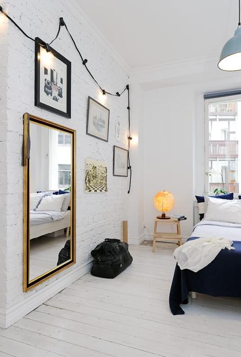 Lighting and wall decor (bedroom)