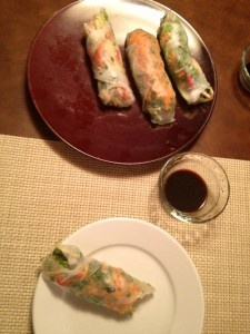 Vietnamese Chicken Spring Rolls--fresh, clean, lean & healthy food that the family can have fun creating together!