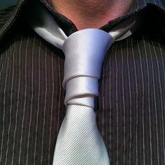 How to Tie a Van Wijk Necktie Knot. Tie and shirt from TJMaxx