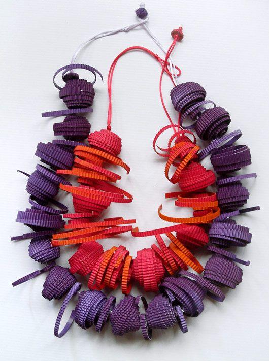 Paper necklace byangela simone