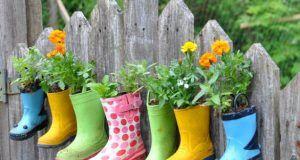 Bottes pots de fleurs