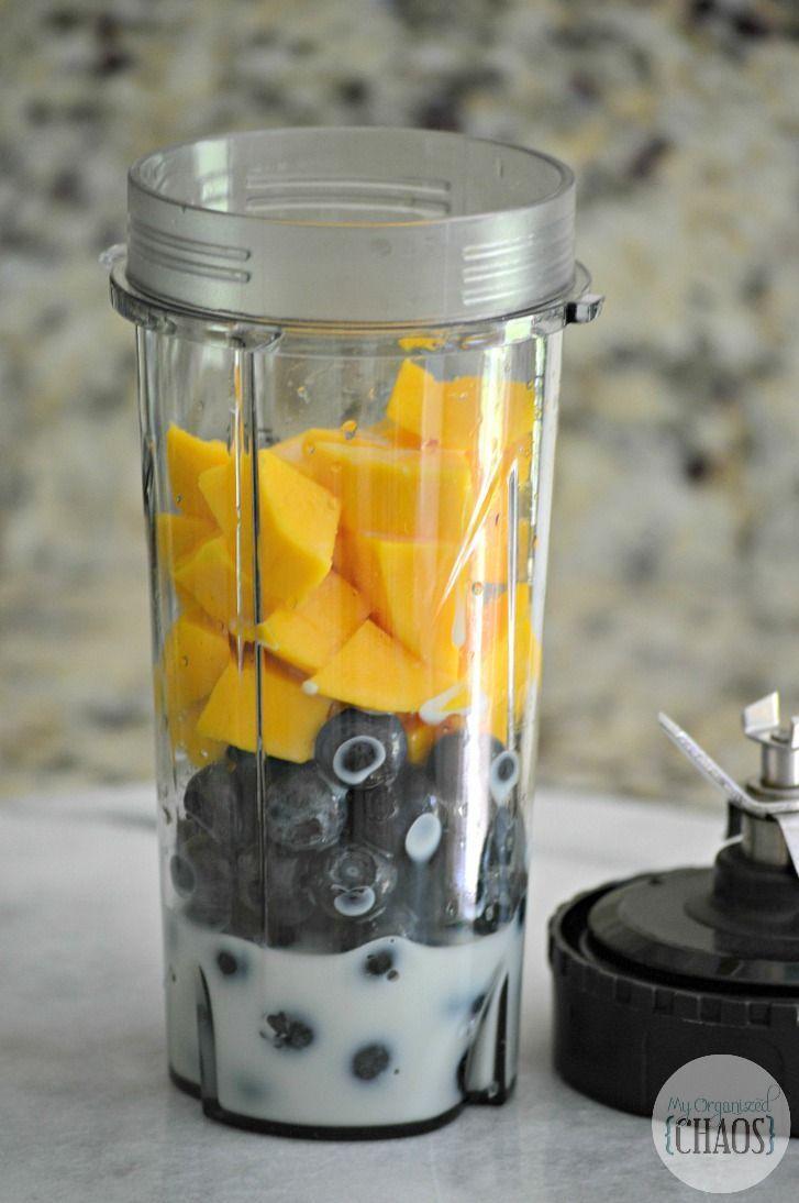 easy Blueberry Mango Smoothie.   Smoothies   Healthy Drinks   Smoothie Recipes  …   – Fruit Recipe