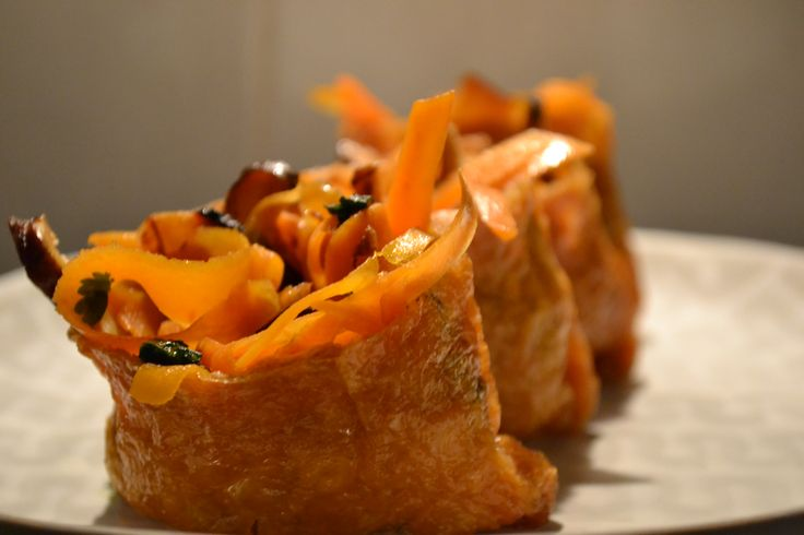 Bean Curd Pockets – Carrot + Shitake Mushrooms