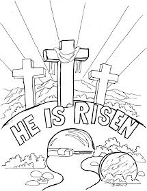 """Coloring Pages for Kids by Mr. Adron: Easter Coloring Page For Kids, """"He is Risen"""""""