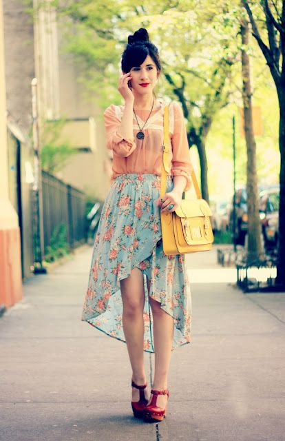 high-low skirtFashion, Floral Skirts, Highlow Skirts, Style, Diy Inspiration, High Low Skirts, Skirts 20, Outfit, Diy Clothing