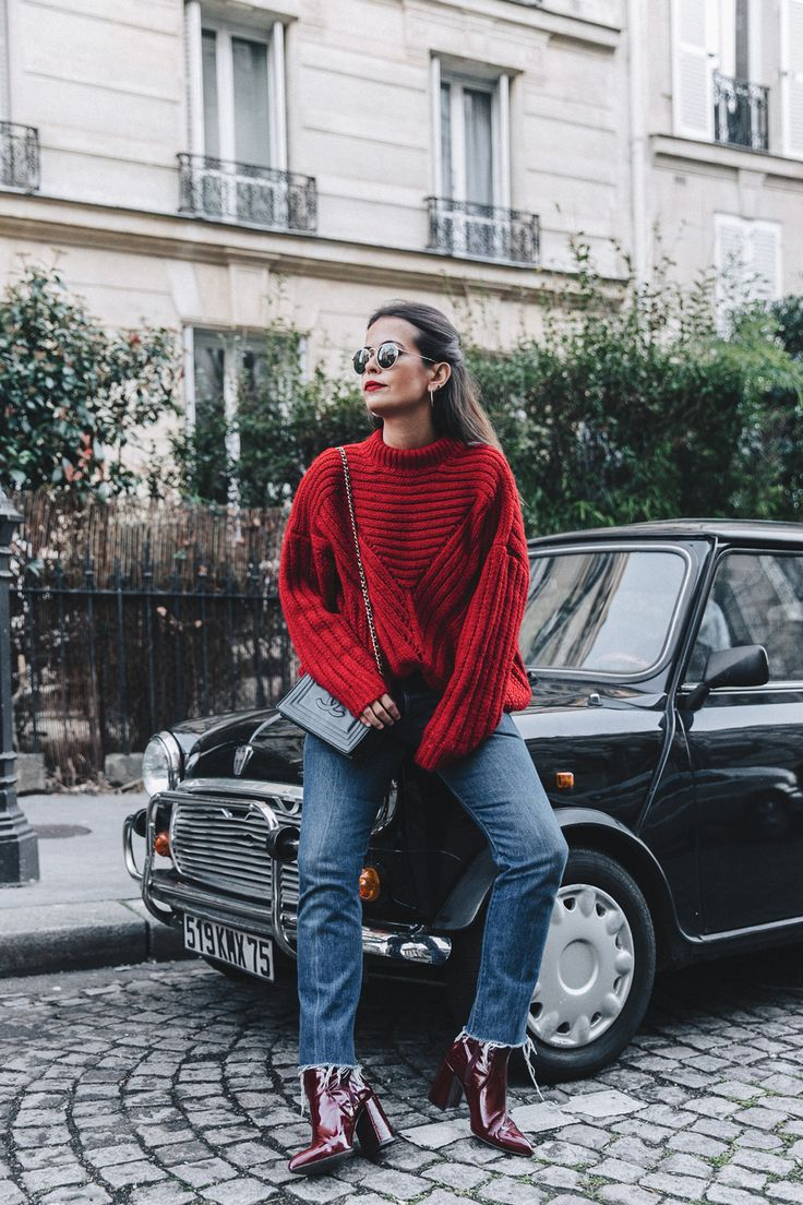 Botines topshop-jersey chicwish-RED-KNITWEAR-Levis-Jeans-Red_Boots-Outfit-Street_Style-Levis_Vintage-30