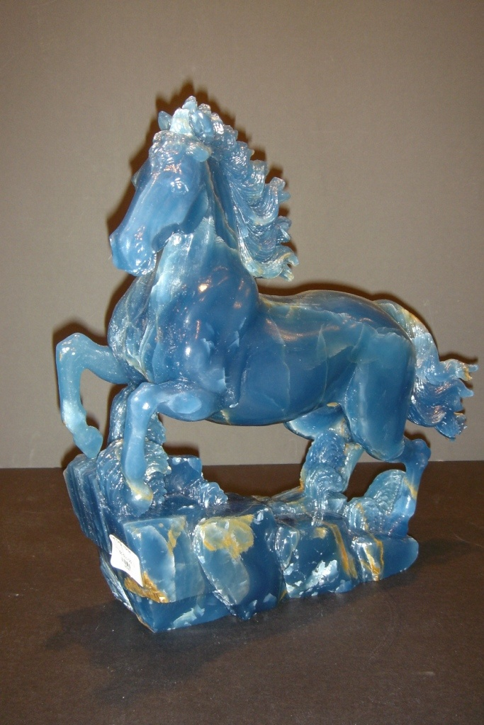 Blue Onyx Carved Horse - Argentina