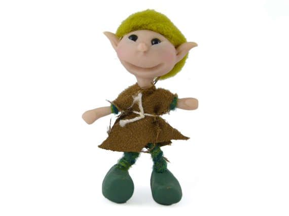 Miniature Pixie Doll Poseable Elf Doll Polymer Clay by Smallhavens