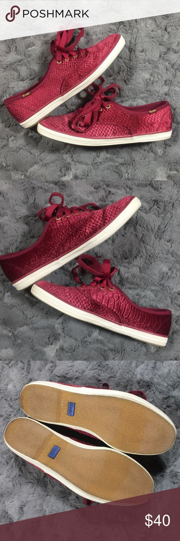 Keds Champion Snaked Embossed Velvet A velvety, snaked-embossed finish lends impeccable modern glamour to a favorite low profile sneaker. Fits true to size Keds Shoes Sneakers
