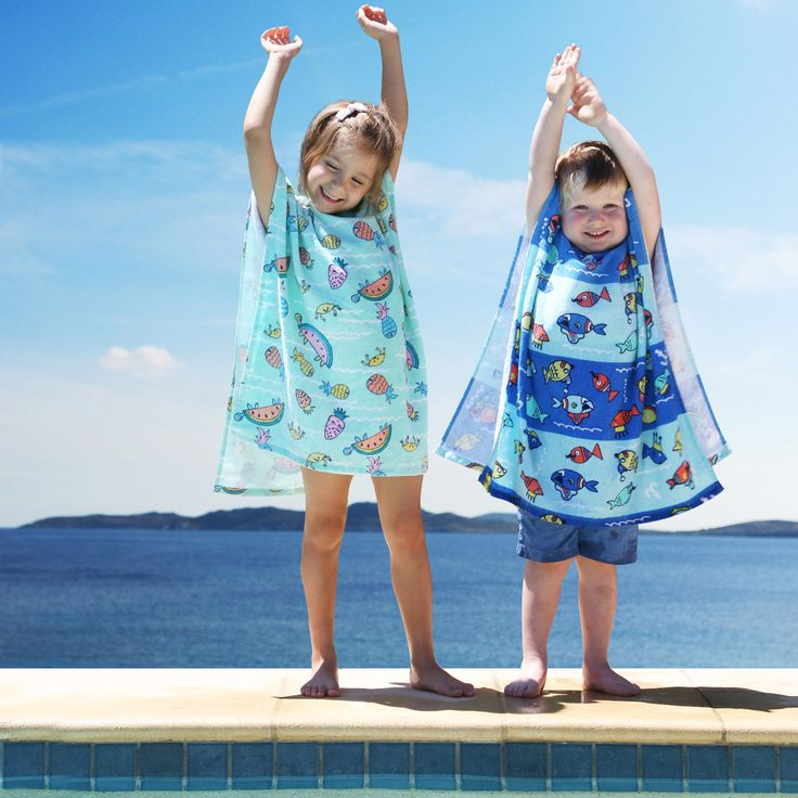 Fish Fiesta Kids Poncho - www.pillowtalk.com.au