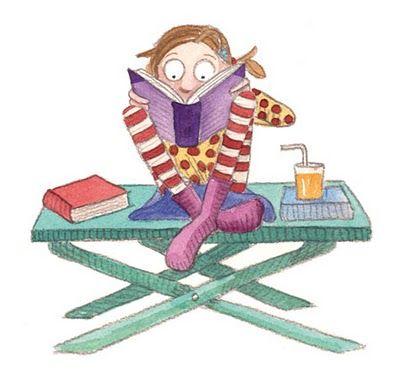 A reading child by Monica Carretero